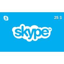 Skype Gift Card 25 USD US-region
