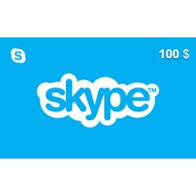 Skype Gift Card 100 USD US-region