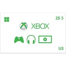 Xbox Gift Card 25 USD US-region