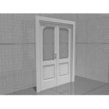 3D model of a wooden interior door
