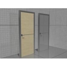 3D model of the doors with aluminum edging