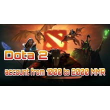 DOTA 2 |  from 1000 to 2000 ranking