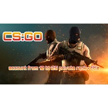 CS:GO account 🔥 10 to 20 private rank + Title ✅