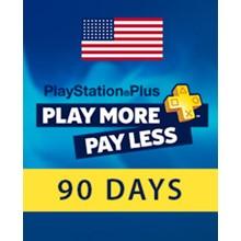 PLAYSTATION PLUS (PSN PLUS) | 90 DAYS ✅(USA) +GIFT