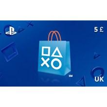 PlayStation Network Gift Card 5 GBP UK-region