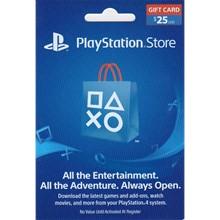 PLAYSTATION NETWORK (PSN) - 25 USD + BONUS