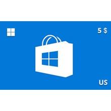 Windows Store Gift Card 5 USD US-region