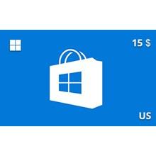 Windows Store Gift Card 15 USD US-region