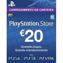 Playstation Network Card (PSN) 20 EUR (Portugal)