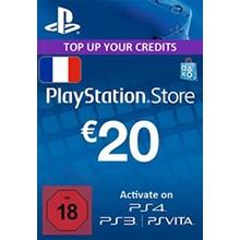 Playstation Network Card (PSN) 20 EUR (France)