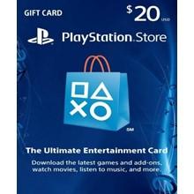 PlayStation Network Card (PSN) 20 $ (USA)