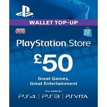 PlayStation Network Card (PSN) £50 (UK)