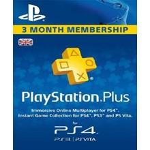 PlayStation Network Card (PSN) 90 Days (United Kingdom)