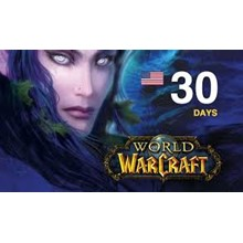 WORLD OF WARCRAFT TIME CARD 30 DAYS USA + WOW CLASSIC