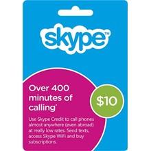 Skype voucher 10 USD