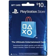 PLAYSTATION NETWORK CARD (PSN) 10$ US (ONLY USA ACC)