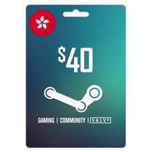 Steam Wallet 40 HKD (About 5.15 USD) ✔️