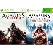 Assassins Creed 2 and AC Brotherhood Xbox 360