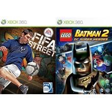 EA SPORTS FIFA Street , LEGO Batman 2 Xbox 360
