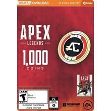 APEX LEGENDS - 1,000 APEX COINS (ORIGIN) | GLOBAL