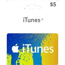 iTUNES GIFT CARD - $5 (USA) 🚩 | DISCOUNTS