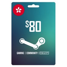Steam Wallet 80 HKD (About 10.30 USD) ✔️