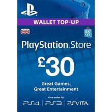 PLAYSTATION NETWORK (PSN) - £30 GBP (UK) 🎮 DISCOUNTS