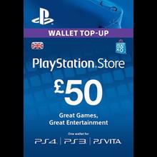 PLAYSTATION NETWORK (PSN) - £50 GBP (UK) 🎮 DISCOUNTS