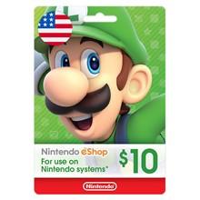 Nintendo eShop 10 USD (USA) 🕹️