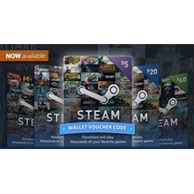 STEAM WALLET GIFT CARD 7.4$ GLOBAL BUT NO ARGENTINA