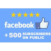 ✅👍 500 Subscribers to public FACEBOOK for Business ⭐