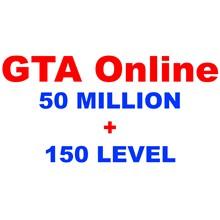 GTA Online boost: 50 MILLION+150 LEVELS (on PC)✅