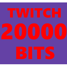 20000 Bits to Your Twitch Channel