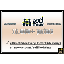 Addmefast Account: 10,000 Points (NEW or REFILL)
