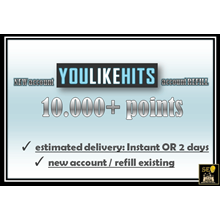 Youlikehits Account: 10,000 Points (NEW or REFILL)