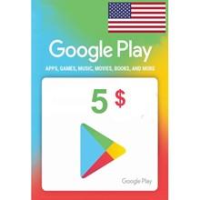 GOOGLE PLAY GIFT CARD $5 (USA) 🎁
