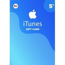 iTunes Gift Card $5 USA 🎵 🎮
