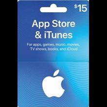 iTunes Gift Card $15 USA 🎵 🎮
