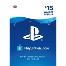 PlayStation Network Wallet Top Up £15 UK PSN -DISCOUNTS