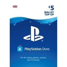 PlayStation Network Wallet Top Up £5 UK PSN -DISCOUNTS