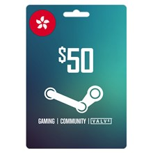 Steam Wallet 50 HKD (About 6.44 USD) ✔️