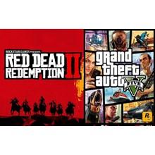 🎁 STEAM Red Dead Redemption 2 + GTA 5 V (STEAM)