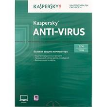 KASPERSKY Anti-Virus 2pcs 1year RUS NEW LIC KL1171RBBFS