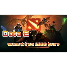 DOTA 2 account 🔥 from 2000 to 3000 hours ✅+Native mail
