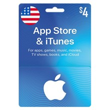 iTunes Gift Card $ 4 USD (USA) ✅ Official