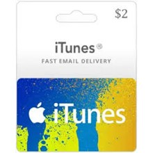 iTunes Gift Card $2 USA 🎵 🎮