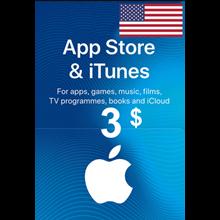 iTunes Gift Card $3 USA 🎵 🎮