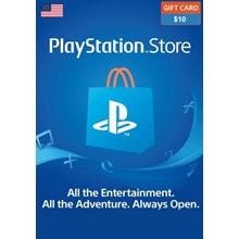 PLAYSTATION NETWORK (PSN) - 10 USD (USA ACC)