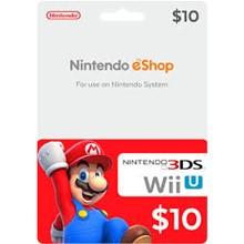 NINTENDO eShop $10 GIFT CARD (US)