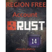 Rust UNLIMITED account +EMAIL 14 Year Badge Region Free